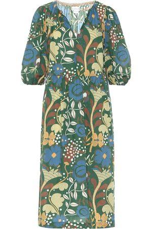 Velvet Virginia floral cotton midi dress