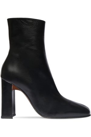 By Far 100mm Elliot Leather Ankle Boots