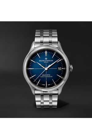 Baume & Mercier Men Watches - Clifton Baumatic 10468 Automatic Chronometer 40mm Stainless Steel Watch, Ref. No. M0A10468