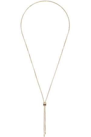 Boucheron 18kt yellow, rose and white gold Quatre mini tie diamond and brown PVD necklace - 3G