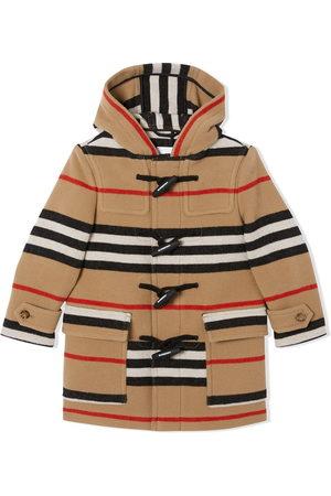 Burberry Icon Stripe duffle coat - Neutrals