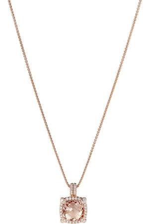 David Yurman 18kt rose gold Châtelaine diamond and morganite pendant necklace - D8RAMODI