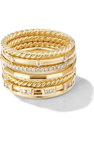 David Yurman 18kt yellow gold Cable Stax diamond ring - D88ADI