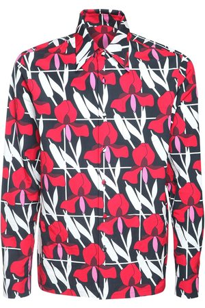 Prada Geometric Floral Print Cotton Shirt