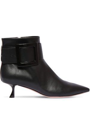 Roger Vivier 45mm Leather Ankle Boots