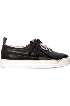 Roger Vivier 20mm Call Me Vivier Leather Sneakers