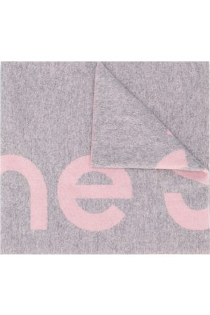 Acne Studios Oversized logo intarsia scarf