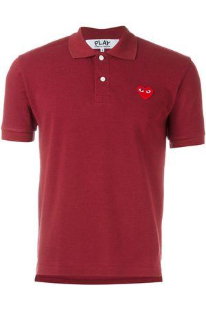 Comme des Garçons Men Polo Shirts - Embroidered heart polo shirt