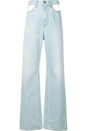 Maison Margiela Cut-out wide leg jeans