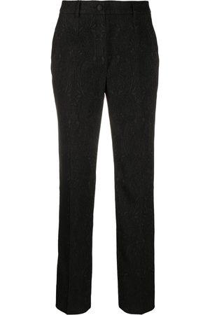 Dolce & Gabbana Jacquard floral trousers