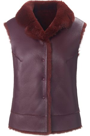 portray berlin Reversible waistcoat in faux fur size: 10