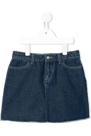 Emporio Armani Appliqué patch denim mini skirt