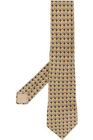 Hermès 2000s pre-owned geometric print scarf
