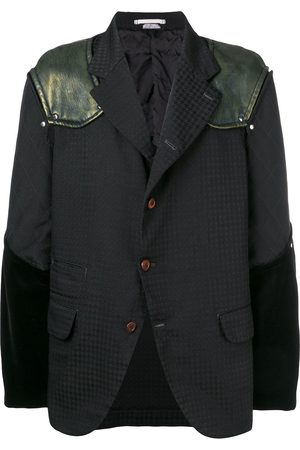 Comme des Garçons Mixed fabric blazer