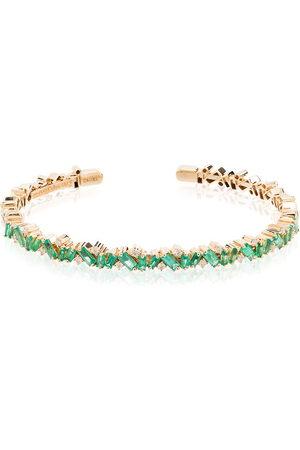 Suzanne Kalan 18kt Fireworks emerald frenzy bracelet - /