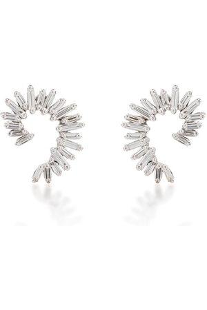 Suzanne Kalan Women Earrings - 18kt diamond baguette spiral earrings