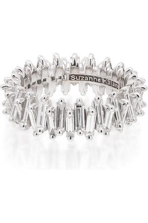 Suzanne Kalan Women Rings - 18kt white gold baguette-cut diamond ring - METALLIC