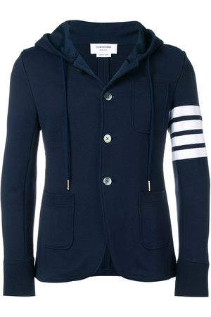 Thom Browne 4-Bar hooded cardigan
