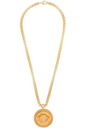 VERSACE Medusa medallion necklace - Metallic