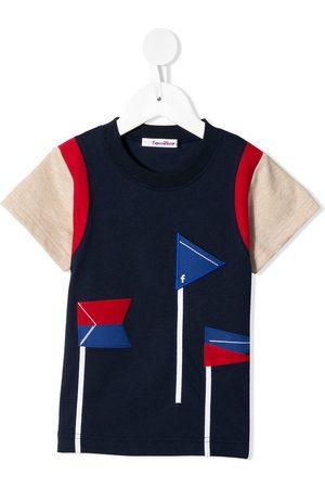 Familiar Flag color-block T-shirt