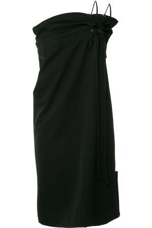 Comme des Garçons Drawstring one shoulder dress
