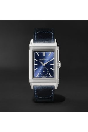 Jaeger-LeCoultre Men Watches - Reverso Tribute Duoface Hand-Wound 28.3mm Stainless Steel and Leather Watch, Ref. No. 3988482