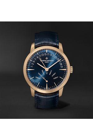 Vacheron Constantin Men Watches - Patrimony Retrograde Day-Date Automatic 42.5mm 18-Karat Pink Gold and Alligator Watch, Ref. No. 4000U/000R-B516