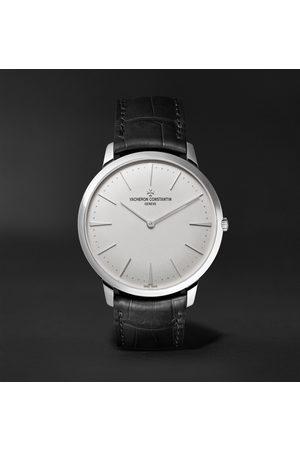 Vacheron Constantin Patrimony Hand-Wound 40mm 18-Karat White Gold and Alligator Watch, Ref. No. 81180/000G-9117 X81G6987