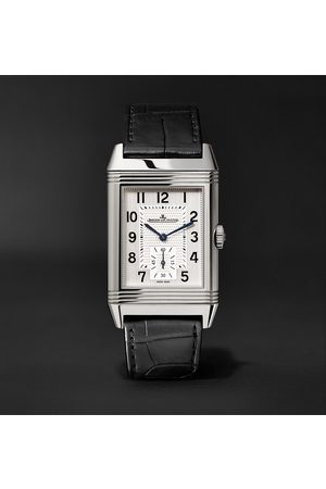 Jaeger-LeCoultre Reverso Classic Large Duoface Hand-Wound 28mm Stainless Steel and Leather Watch, Ref. No. JLQ3848420