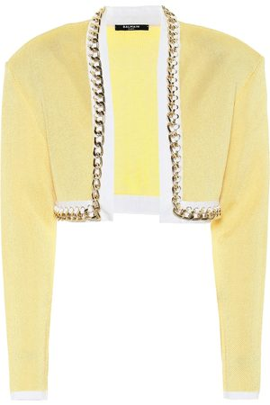 Balmain Exclusive to Mytheresa – Chain-link cropped knit jacket