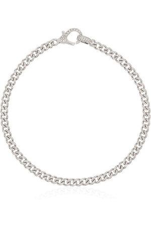 Shay Women Bracelets - 18kt white gold Baby pavé diamond 7 inch link bracelet