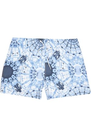 River Island Mens Big and Tall tie dye printed swim shorts
