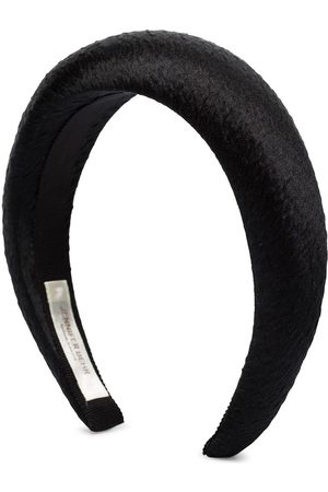 Jennifer Behr Thada hammered silk headband