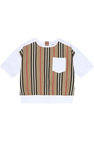 Burberry Icon Stripe cotton-jersey T-shirt