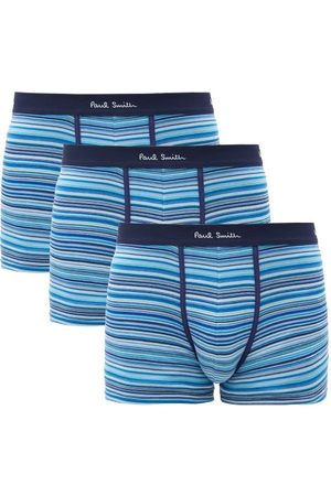 Paul Smith Pack Of Three Striped Cotton-blend Boxer Briefs - Mens