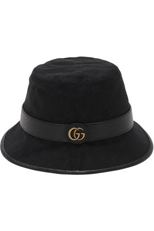 Gucci Men Hats - Gg Cotton Canvas Bucket Hat