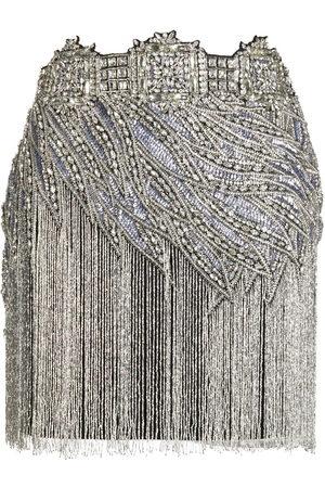 AMEN Crystal-embellished mini skirt