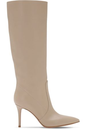 Gianvito Rossi Women High Leg Boots - 85mm Slouch Leather Tall Boots
