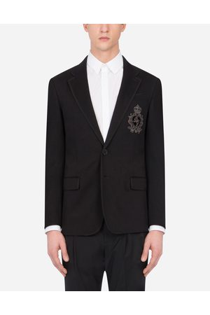 Dolce & Gabbana Men Blazers - Coats and Blazers - JERSEY JACKET WITH PATCH