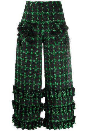 LOULOU Cropped wide-leg trousers