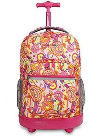 J World New York Sunrise Rolling Backpack Casual Daypack, 18 cm