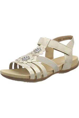 Rieker Kinder Girls' K2266 T-Bar Sandals, (Muschel/Kiesel- )