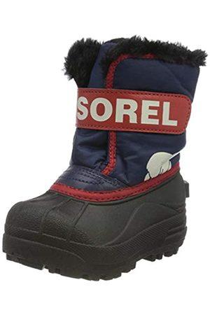 sorel Unisex Kid's Toddler Snow Commander Boot, Nocturnal, Sail