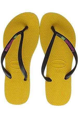 Havaianas Women Flip Flops - Slim Brasil Logo, Women's Flip Flops, (Banana )