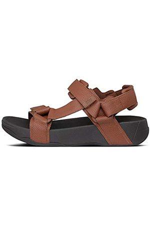 FitFlop Men's Ryker Flip Flops, (Dark Tan 277)