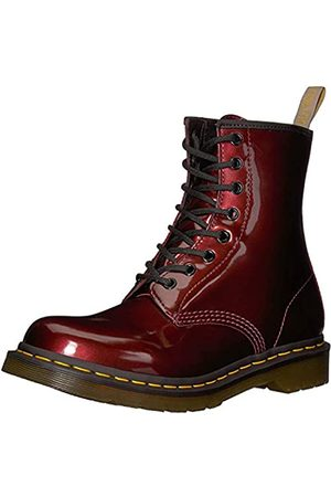 Dr. Martens Women Ankle Boots - Women's 1460 W Vegan Chrome Ankle Boots, (Oxblood 601)
