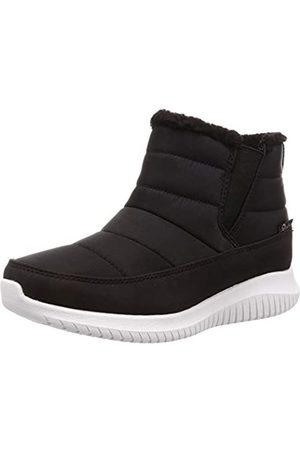 Skechers Women's Ultra Flex-Shawty Ankle Boots, ( Nylon/Duraleather Blk)