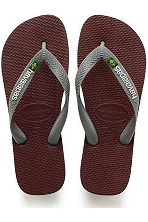 Havaianas Unisex Adults Brasil Logo Flip Flops, (Grape Wine)