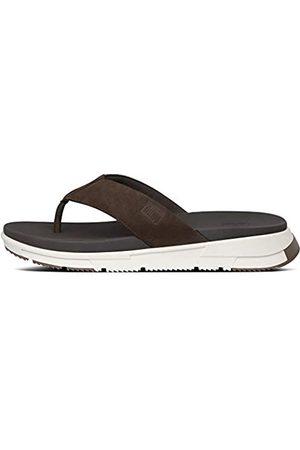 FitFlop Men Flip Flops - Men's Sporty Toe-Thongs Flip Flops, (Chocolate 167)