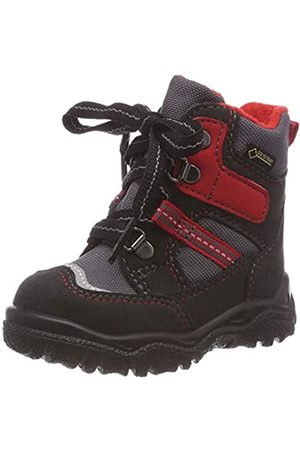 Superfit Boys' HUSKY1 Snow Boots, (Schwarz/Rot 00), 8.5 UK